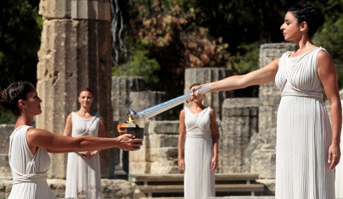 Lightning Ceremony of the Olympic Flame for 2014 Winter Olympics