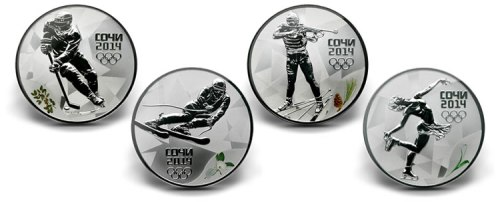 Russian-Sochi-2014-Winter-Olympics-Commemorative-Coins