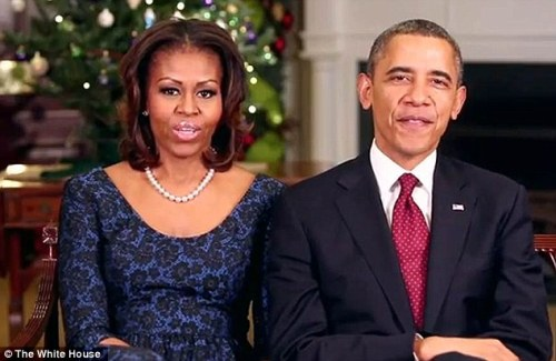 US President Barack Obama and First Lady Michelle Obama Happy Holiday Message